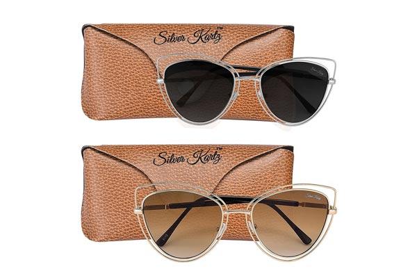 Silver Kartz Unisex Double Gradient UV Protected Aviator Sunglasses