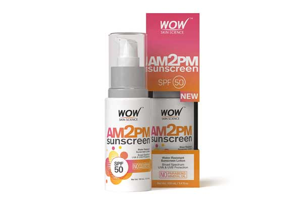 WOW AM2PM SPF50 Water Resistant No Parabens & Mineral Oil Sunscreen Lotion