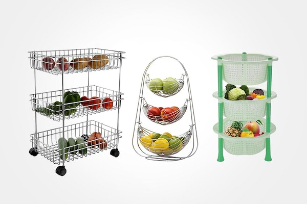 Keep Veggies And Fruits Organised With These Vegetable Baskets For Kitchens
