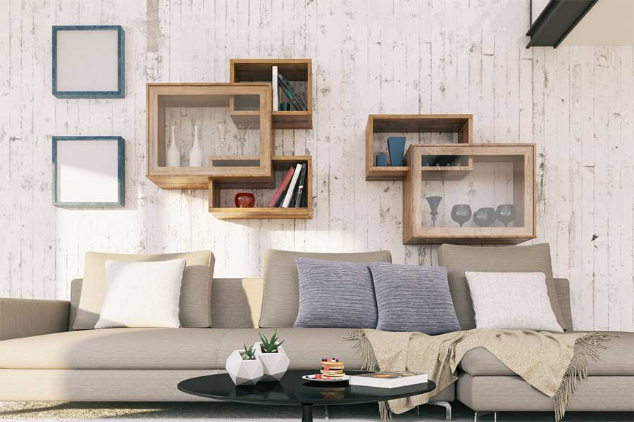 Best Wall Shelf Designs : Make The Storage Look Dramatic