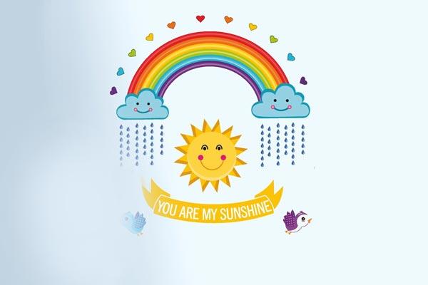 You are My Sunshine Rainbow' Wall Sticker