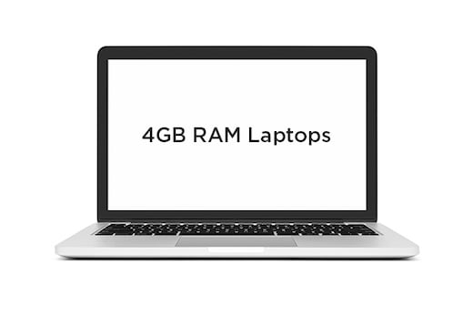 Laptops with 4GB RAM in India for July 2018