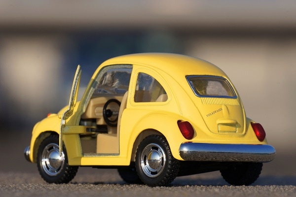 Old yellow beetle car