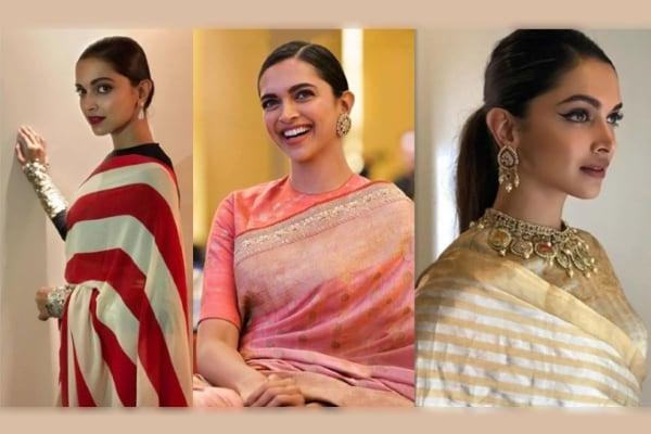 90cb7c8621413a Deepika Padukone Sarees For Every Girl s Wardrobe