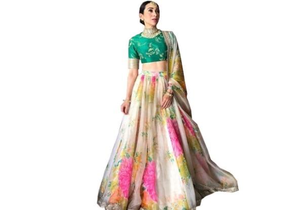 Women's Silk Multi-Coloured Lehenga cholis