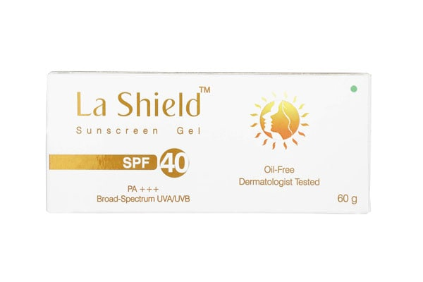best sunscreens in india Glenmark La Shield Sunscreen Gel Spf 40 (White,60g)
