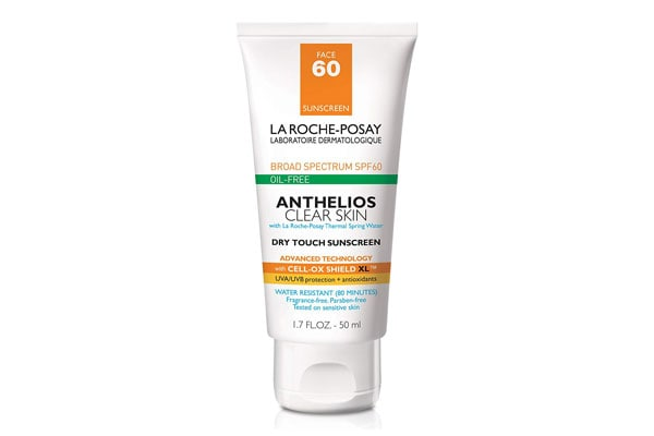 Best sunscreens in India La Roche-Posay Anthelios Dry Touch Clear Skin Facial Sunscreen SPF 60, 1.7fl. oz