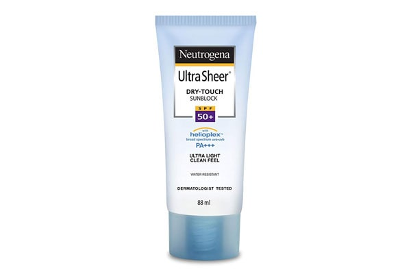 Best Sunscreens in India Neutrogena Ultra Sheer® Dry-Touch Sunscreen Broad Spectrum SPF 50, 88ml