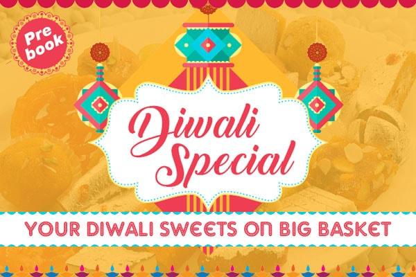 BigBasket Diwali Sweets Offers: Pre-Book Sweets from 8 Cities on BigBasket