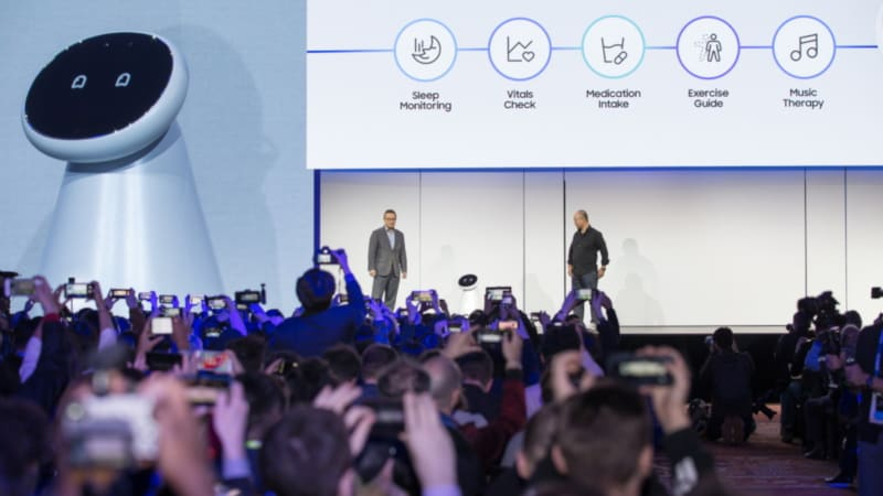CES2019 Samsung Press Conference Samsug Bot Care Samsung Bot Care