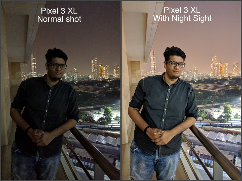 Camera comparo night sight sample ndtv camera compare