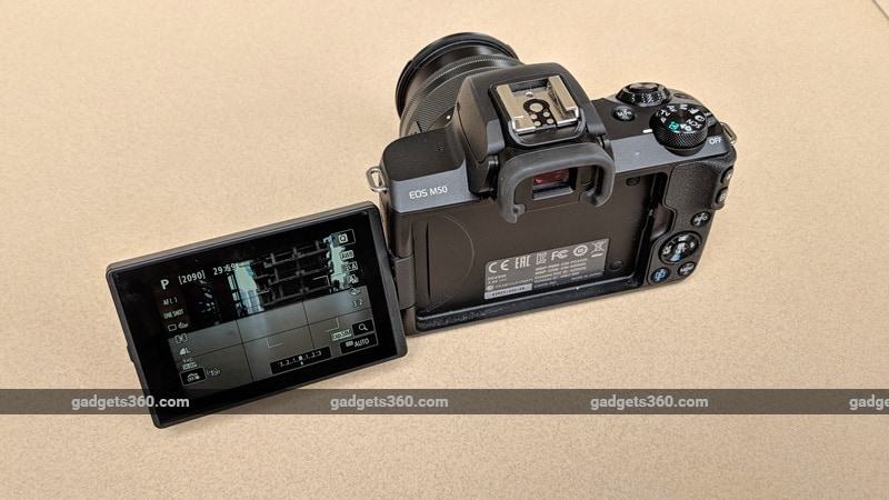 Canon EOS M50 display ndtv canon