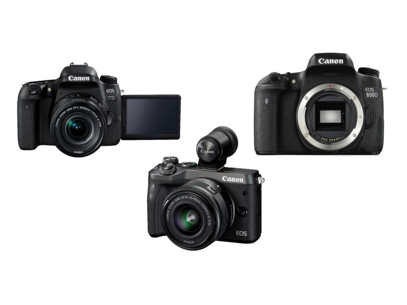Canon EOS 800D, 77D DSLRs and M6 Mirrorless Camera Launched in India