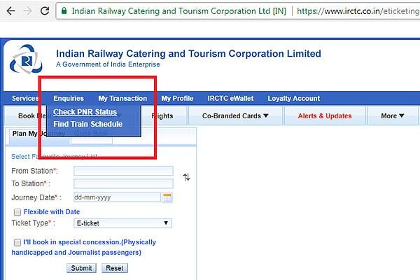 Check PNR Status 2 600