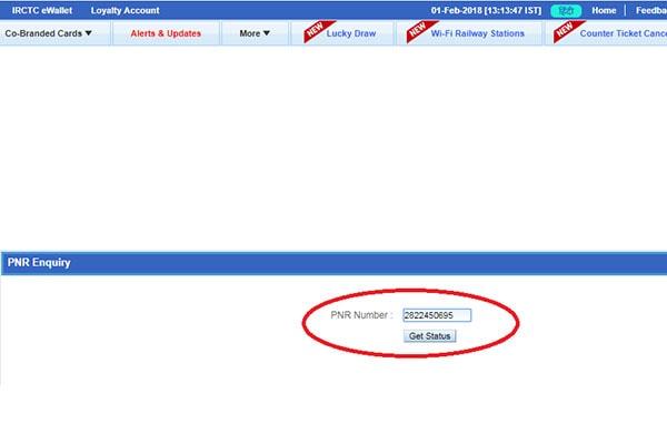 Check PNR Status 3 600