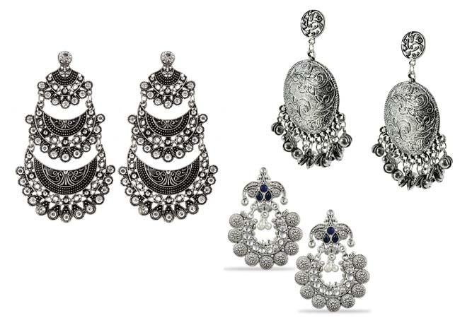 Chitrangada Singh Inspired Silver Earrings 1560237946344