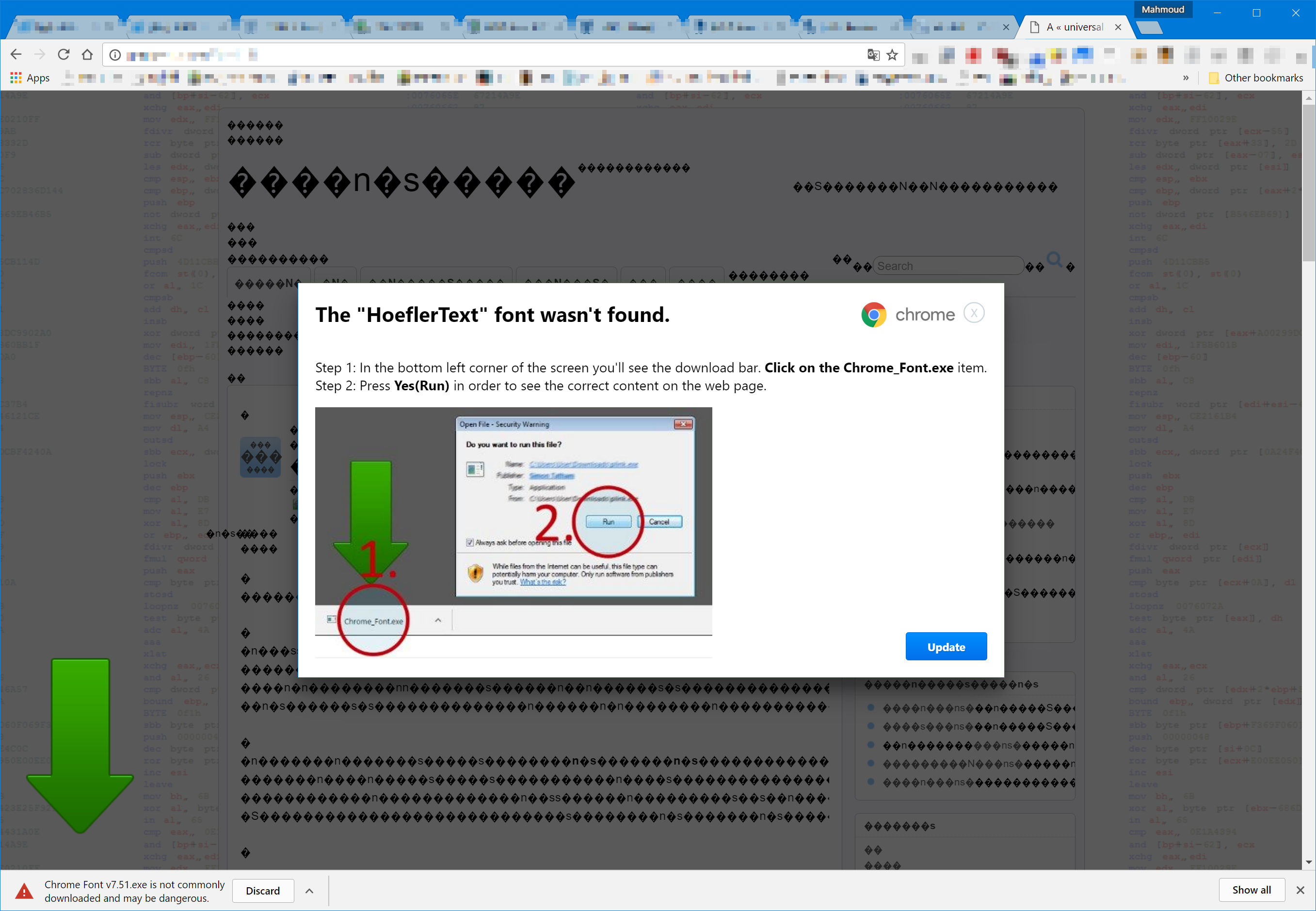 Chrome Users on Windows, Mac Being Targeted by 'Font Wasn't Found
