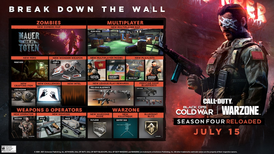 Call of Duty: Black Ops Cold War, Warzone to Get Season Four Reloaded on July 15 — All the Details