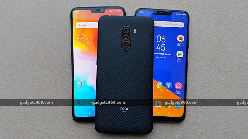 Comparison Phones back OnePlus 6 vs Poco F1 vs ZenFone 5Z