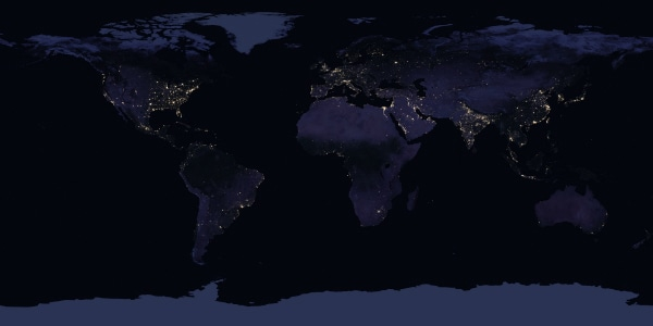 Composite Global Map 2016 Global Satellite Images 2017