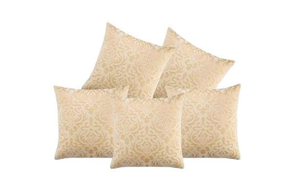 Czar Home Velvet Cream Cushion Covers 1558079709414