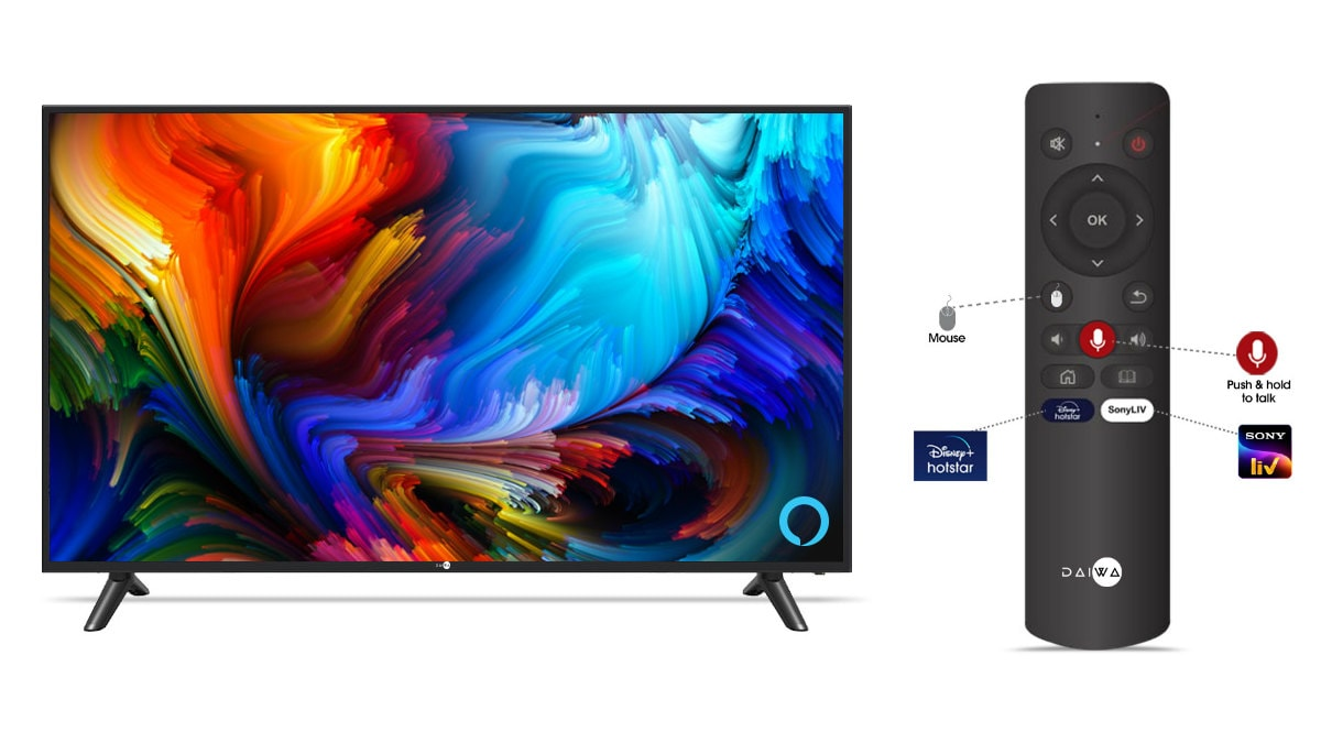 Daiwa 43-Inch D43QFS Smart TV With Alexa, Smart Controls Launched in India:  Price, Specifications | Technology News