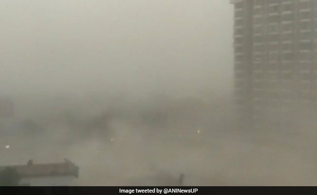 Sudden Dust Storm, Rain Lash Delhi, Trees Uprooted, Traffic Halts