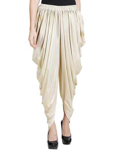 Dhoti Salwars Ankitas Light Gold Shimmer Harem Dhoti Pants 1558428407413
