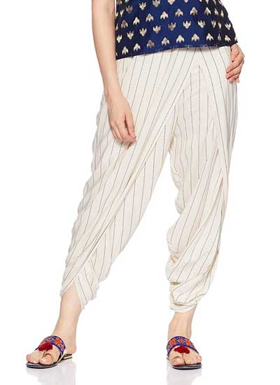 Dhoti Salwars W for Women Relaxed Fit Pants 1558599819554