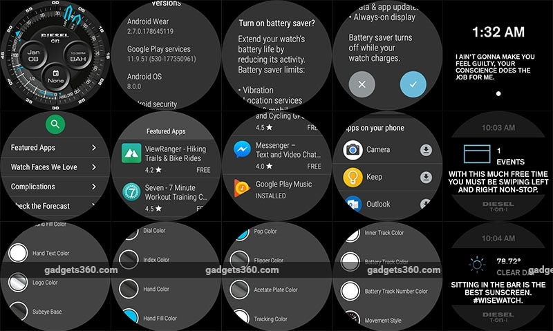 Diesel Smartwatch Screenshot NDTV Diesel On Smartwatch