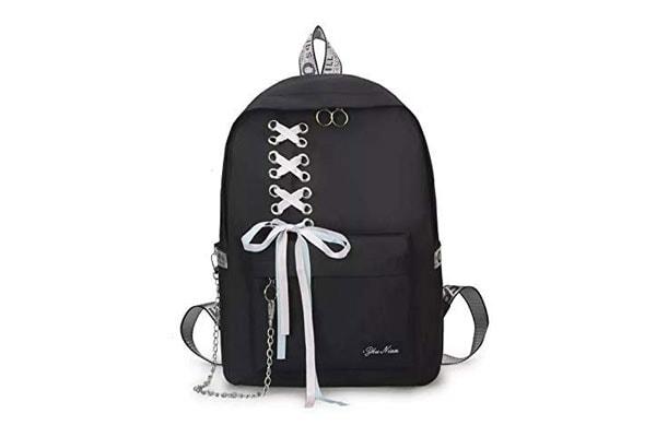 Diving Deep Preppy Style Fashion Waterproof Women Girls Backpack 1613796151282