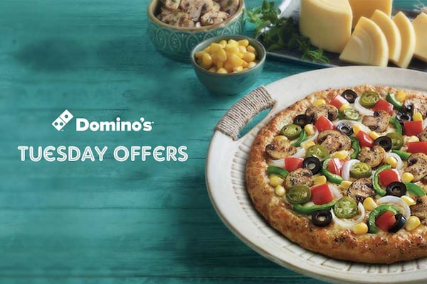 Dominos Tuesday Offers, Coupon Codes: Burger Pizza @ Rs. 99 Only Today at Dominos