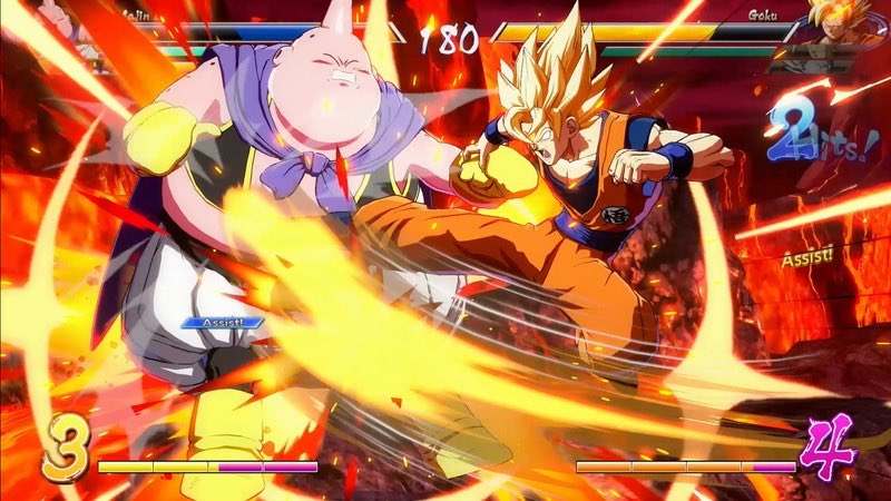 Dragonball FighterZ goku buu