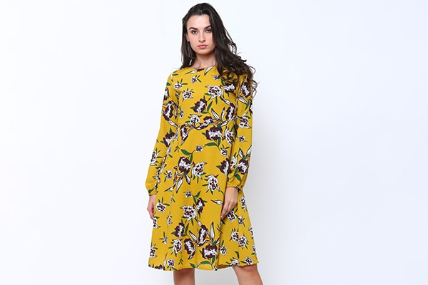 Yellow and Purple Tokyo Talkies Dress