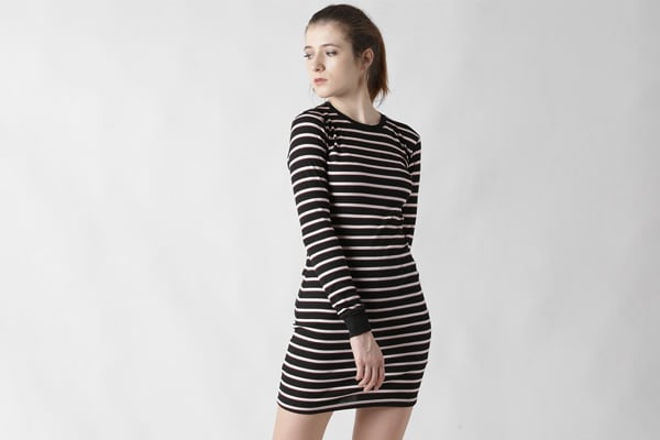 Forever 21 Black and White Bodycon
