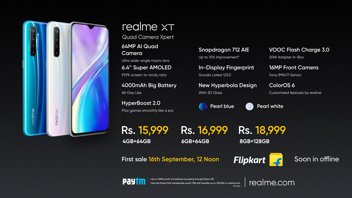 EEVD6ODVAAAYlIT Realme XT price in India