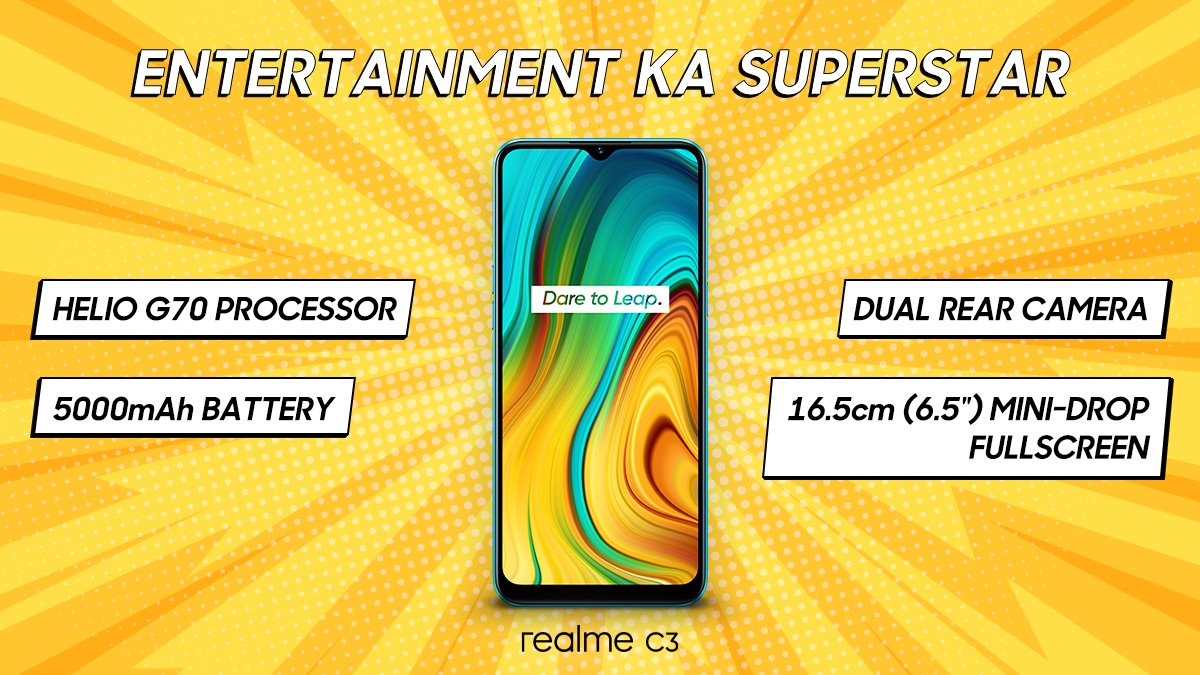 Realme C3 Price in India Starts at Rs. 6,999, First Sale on February 14: Launch Highlights