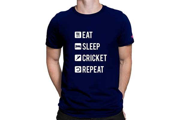 Eat Sleep Cricket Repeat T Shirt 1559210893954