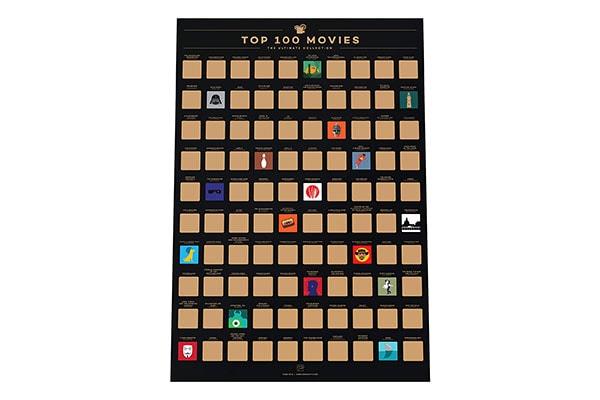 Enno Vatti 100 Movies Scratch Off Poster 1611730682761