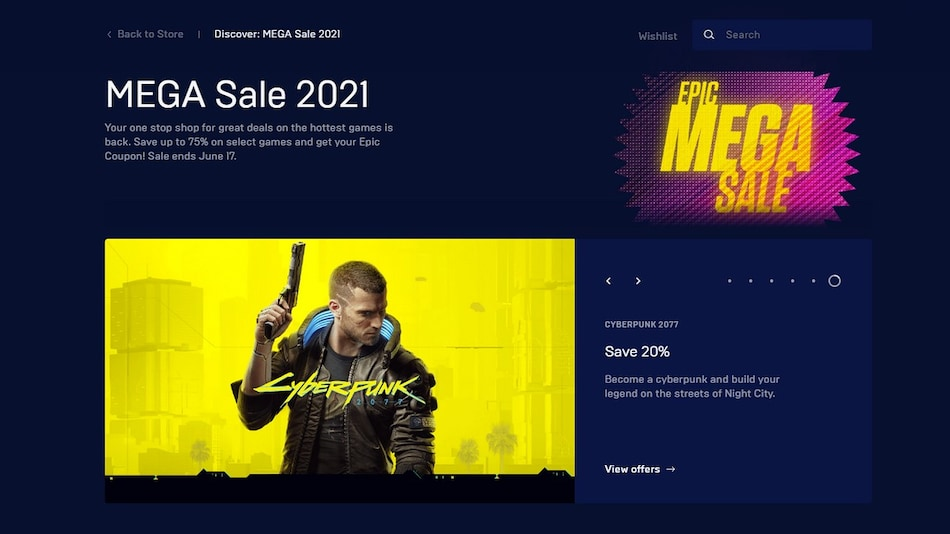 Epic Games Store Mega Sale 2021 Brings Discounts, $10 Coupons on Games; Get NBA 2K21 for Free