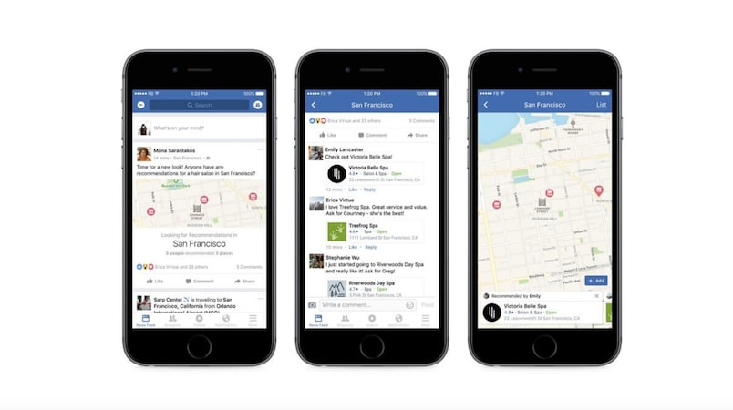 Facebook Now Lets You Order Food, Book Movies With Friends' Help