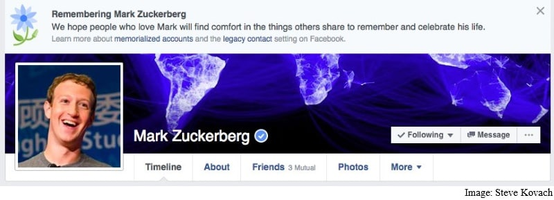 Mark Zuckerberg Among Facebook Users Mistakenly Declared 'Dead'