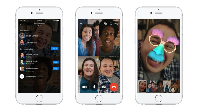 Facebook Messenger Group Video Chat Launched for Android, iOS, the Web