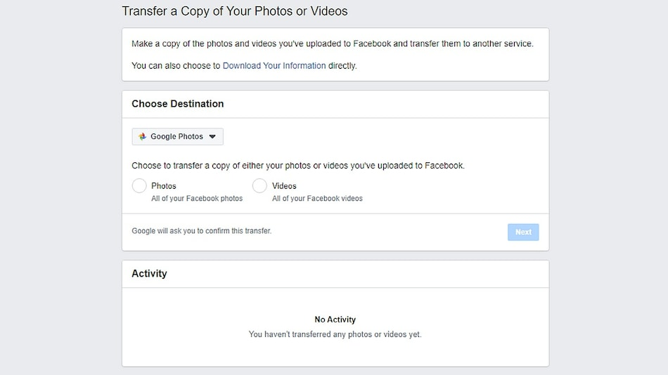 Facebook's Photo Transfer Tool Now Available in US and Canada