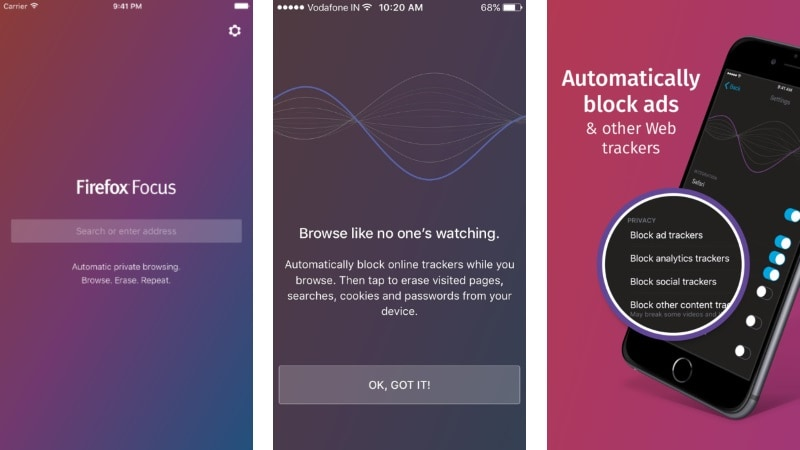 Firefox Focus Browser With Privacy Focus Launched for iOS; Ease of Use and Speed Touted