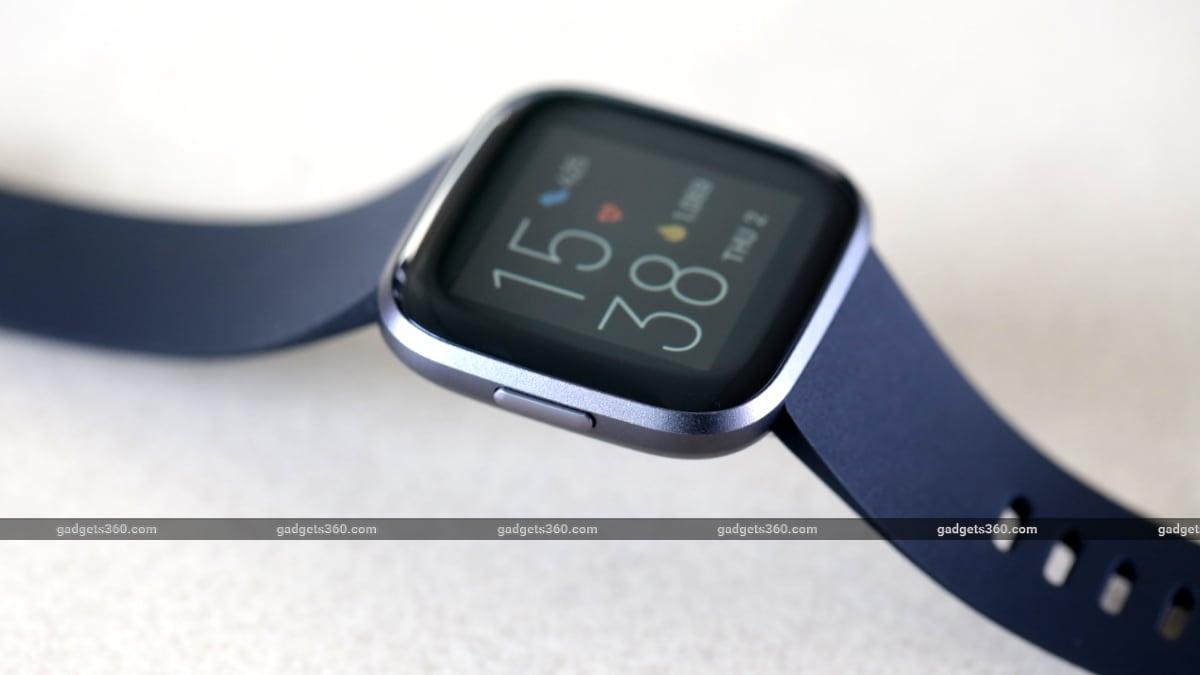 Fitbit Versa 2 button gadgets 360 Fitbit Versa 2