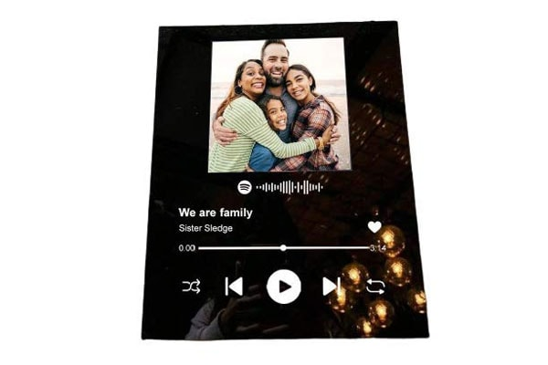Flaminko Customized Glass Art Spotify Music Plaque Photo Style Personalised Album Cover 1611682320975