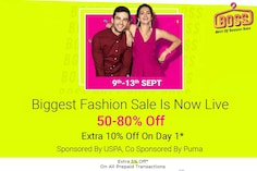 Flipkart Best of Season Sale 2020 (BOSS): Best Deals, Discount Up To 80% Off on Fashion Products (9th-13th Sept)