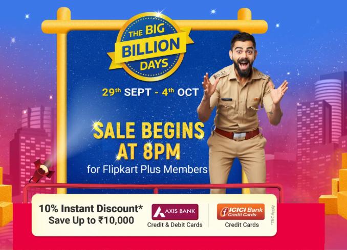 Flipkart Big Billion Days Sale 2019 (29 Sep - 4 Oct): Check Offers, Deals And Discounts