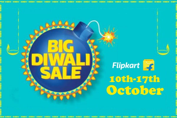 Flipkart Big Diwali Sale from 10th-17th October, Amazing Offers on TV, Appliances and Smartphones